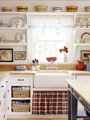 Vignette Design Decorating With Red White And Blue