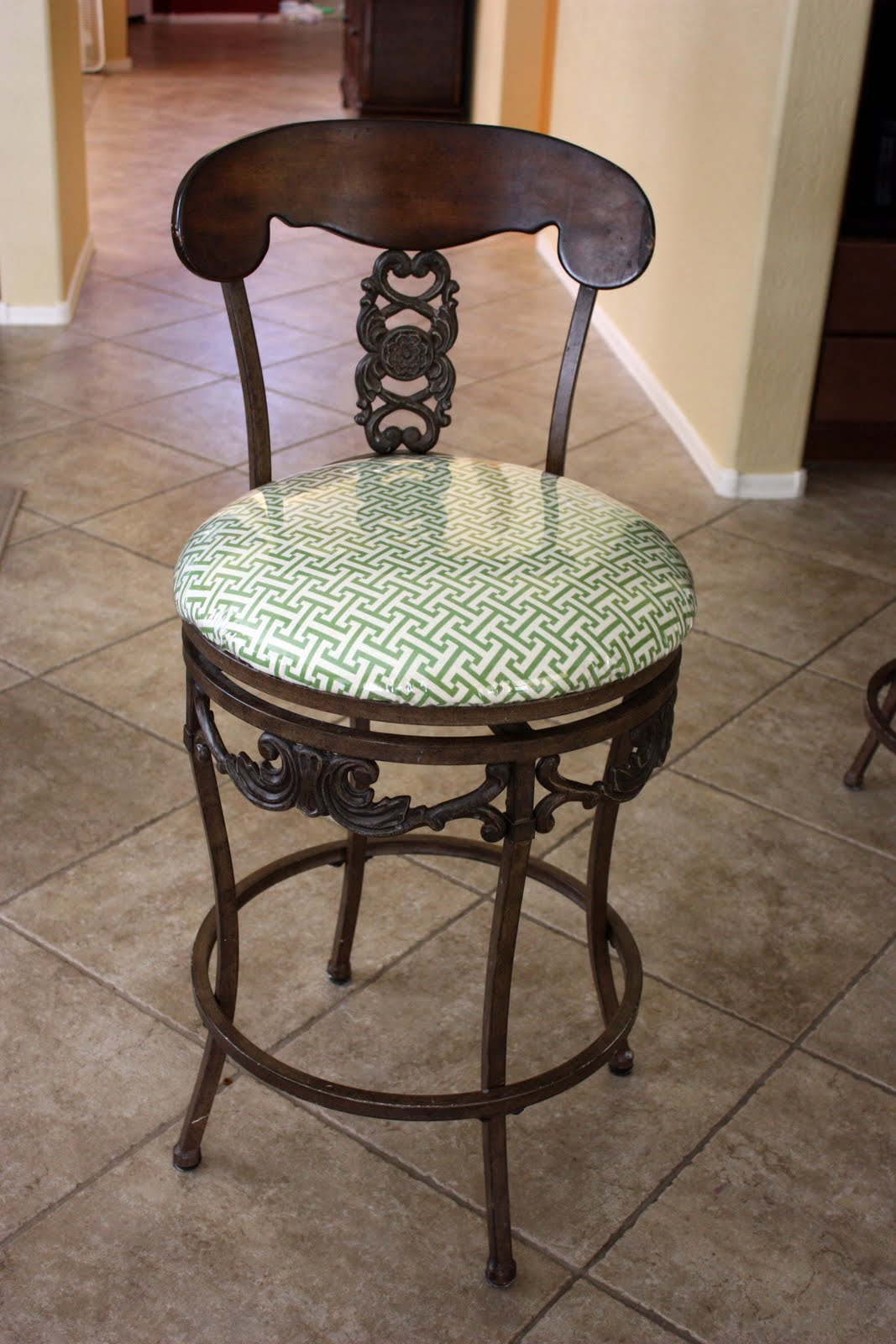 the pretty poppy recovered bar stools. Black Bedroom Furniture Sets. Home Design Ideas