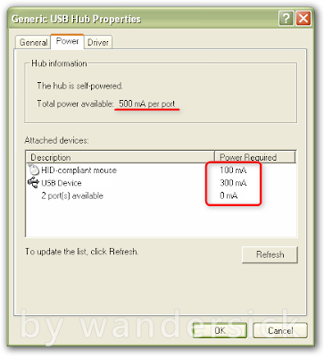 Device Manager USB Hub Power