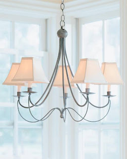 Pottery Barn Iron Rope Chandelier