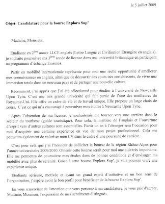 Justine In Ncl Candidature Pour La Bourse Explora Sup