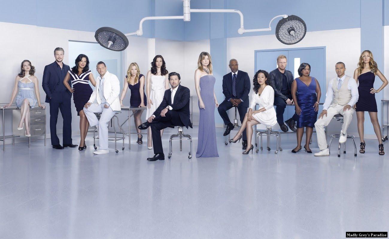 Greys Anatomy Season 7 Cast Promotional Group Photo Larger