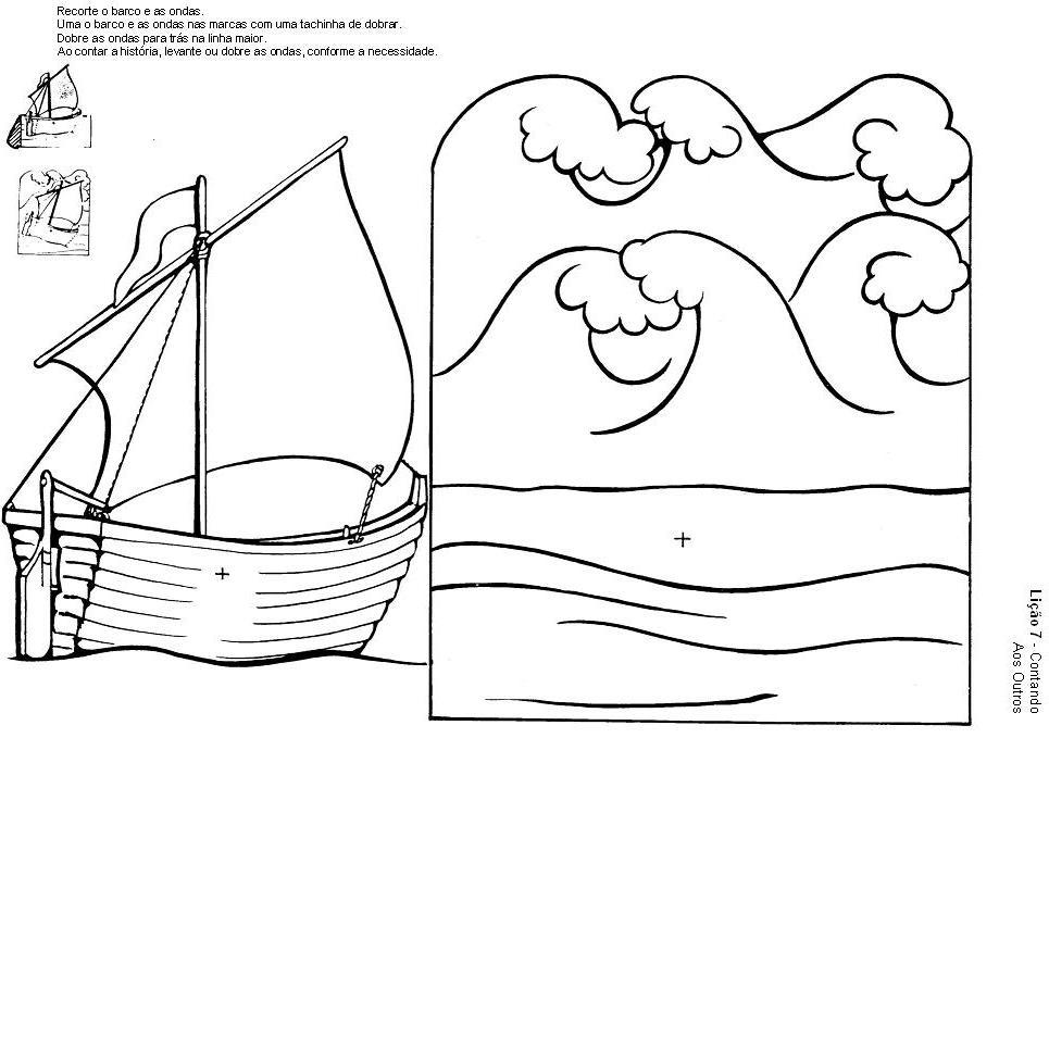 imagens para colorir jesus acalma a tempestade
