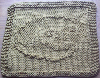 DigKnitty Designs: Pug Knit Dishcloth Pattern