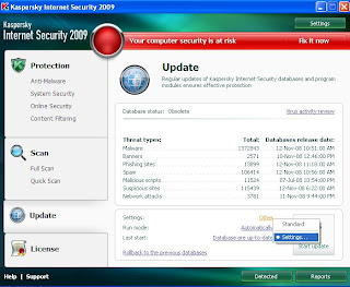 Kaspersky Internet Security and Antivirus offline update 1