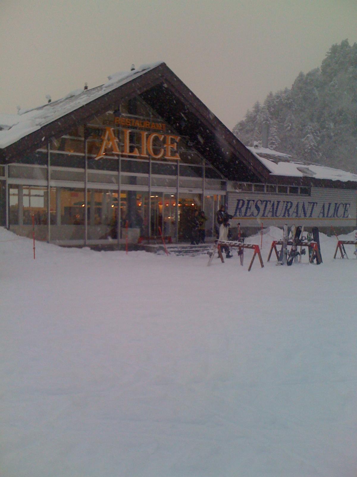 滑雪場的工作