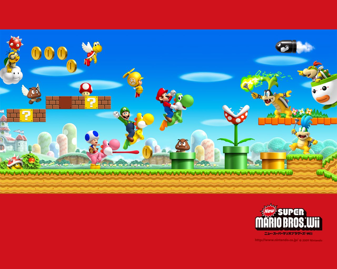 Renter S Wallpaper New Super Mario Bros Wii Frenterojo Videojuegos