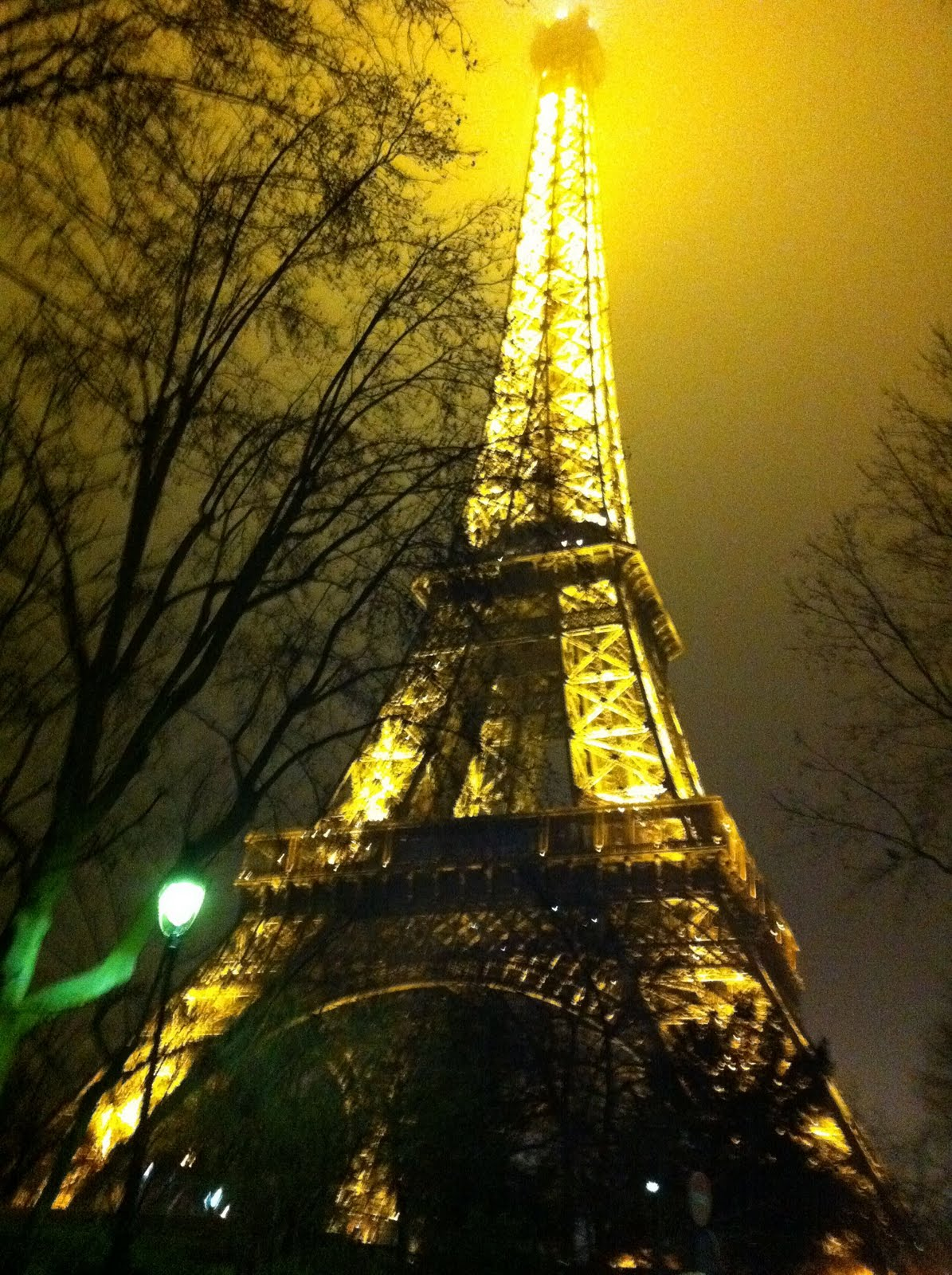 Eiffel Tower in Paris at New Years Eve