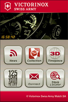 Application Victorinox sur l'iPhone