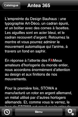 Clin d'oeil à FAM dans l'application Stowa sur l'iPhone