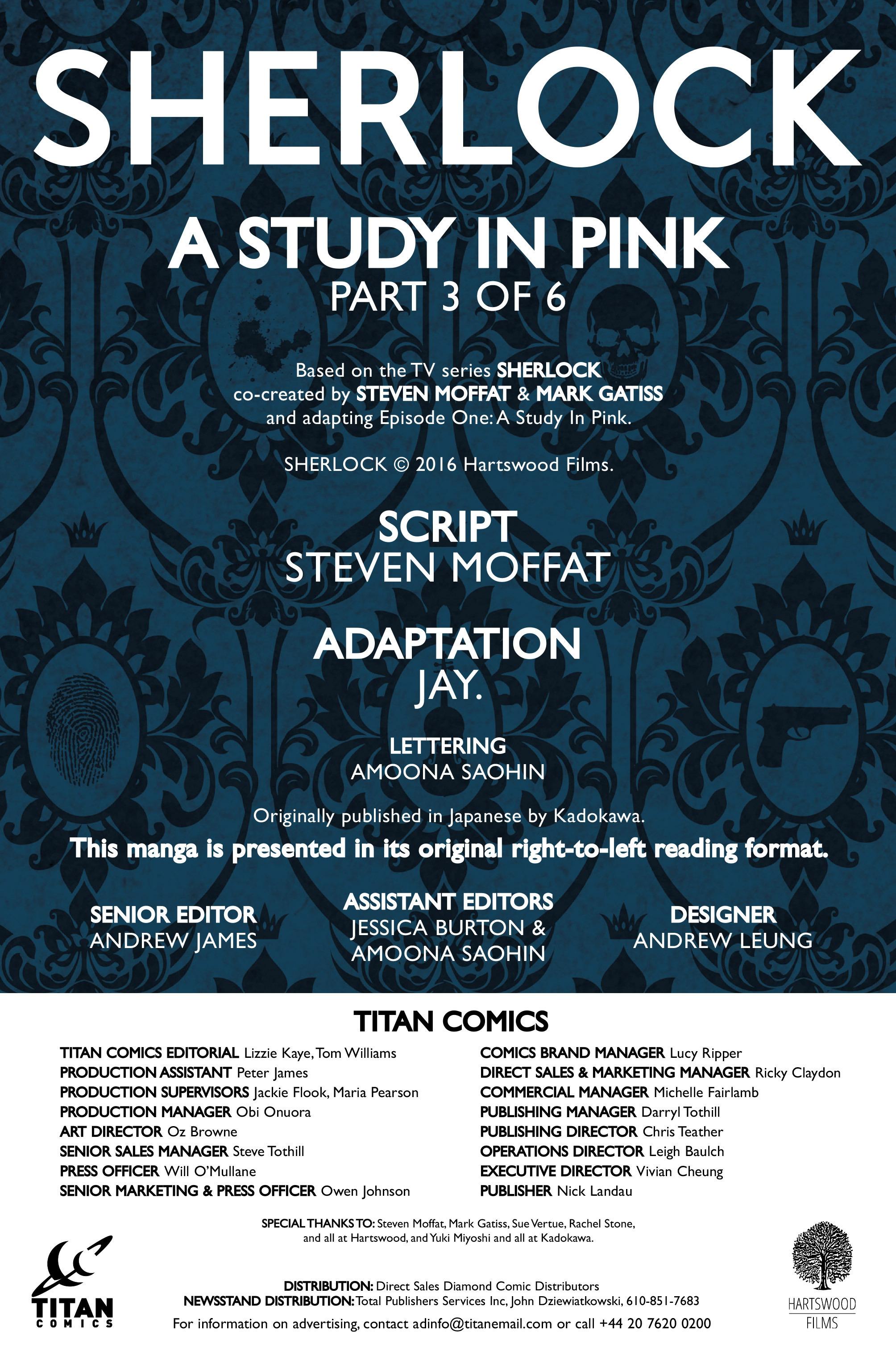 Read online Sherlock: A Study In Pink comic -  Issue #3 - 5