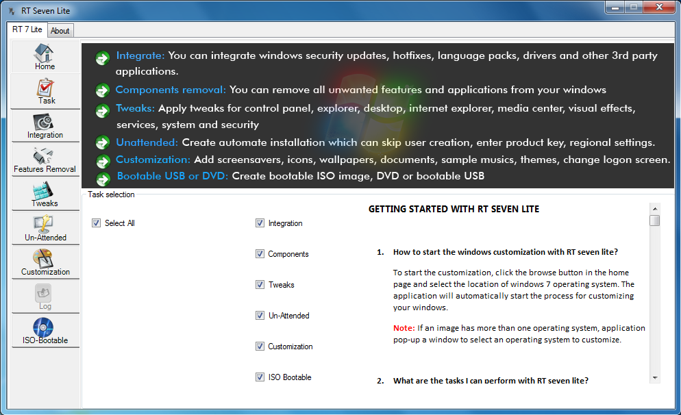 Customize windows 7 installer