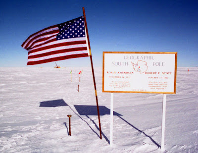 south pole marker