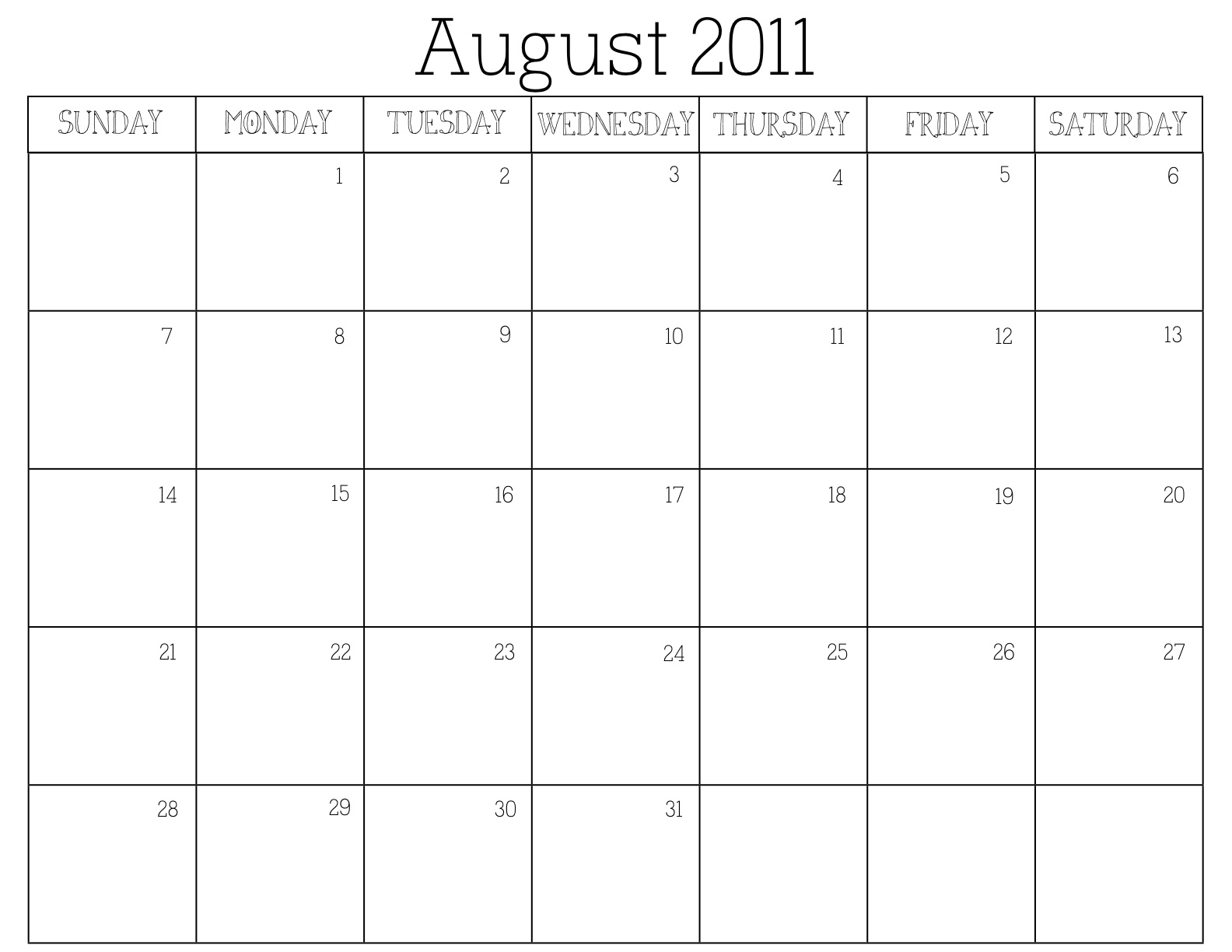 the eclectic owl Free 2011 Printable Calendar