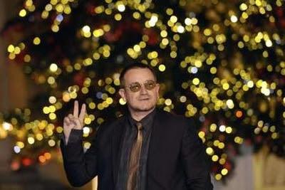 Bono en Paris Francia. Palacio del Eliseo