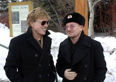 Bono y Robert Redford en Sundance