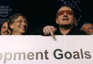 Bono, Bill Gates WEF Davos 2008