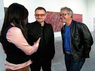 Bono y Damien Hirst en Nueva York