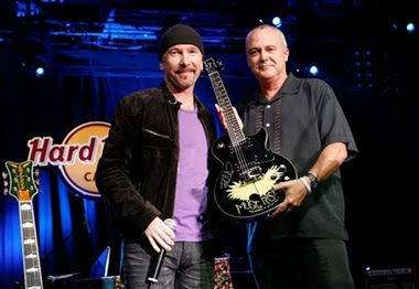 The Edge en el Hard Rock Cafe