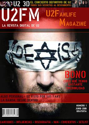 Portada U2fanlife magazine 1, junio 2008