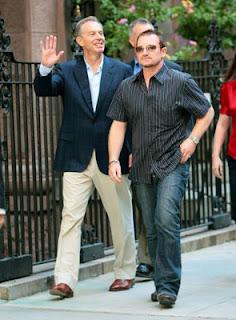 Bono y Tony Blair en nueva York Septiembre 2008