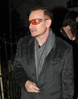 Bono asiste a la Freud Annual Christmas Party en Londres 2008