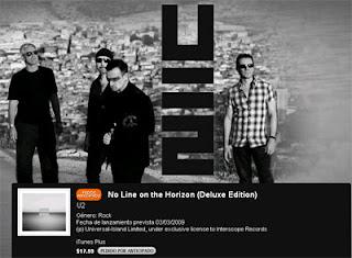 U2 No Line on the horizon deluxe itunes