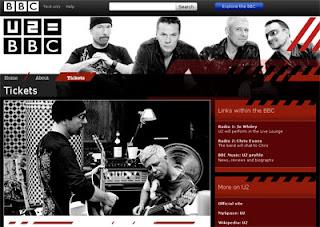 minisite U2 BBC