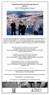 U2 3 Nights Live