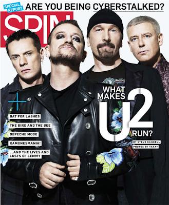 U2 portada de Spin Magazine