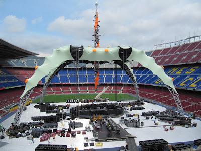 U2 360 Tour: Escenario Camp Nou Barcelona