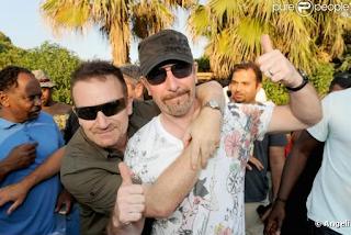 Edge y Bono en Saint-Tropez
