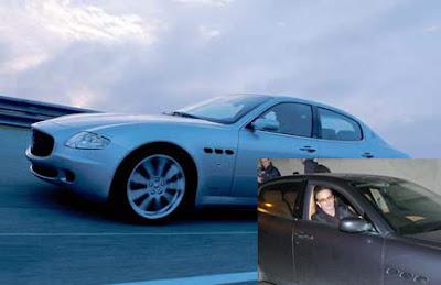 bono y su Maserati Quattroporte