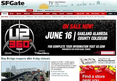 Marketing de U2 360 Tour en EEUU