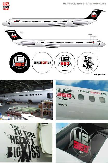 U2 ThreeSixtyAir Avion U2 360 tour