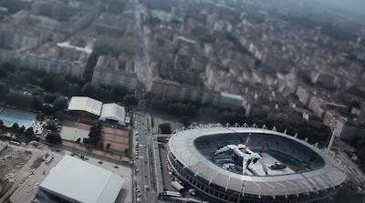 Foto aerea de U2 360 Tour en Turín