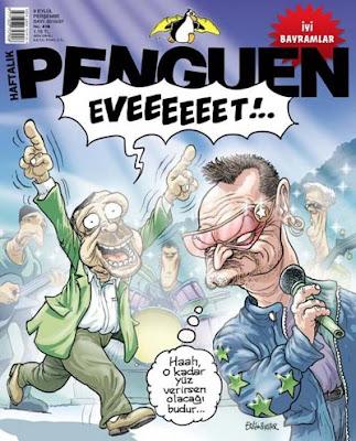 U2 en la revista Penguen de Turquia