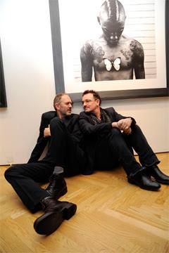 Bono en Nueva York con anton Corbijn
