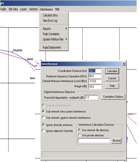 Error Log: Network.Planning: Pathloss 4.0 (Interference Module