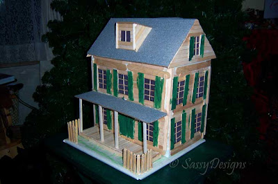 Wordless/Wordful Wednesday - 3D House Project Done | Stacy