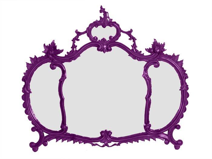 Specchio barocco viola myartistic - Specchio cornice nera barocca ...