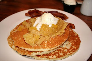 Macadamia Pancakes with Macadamia Nut Butter Kona Cafe 2