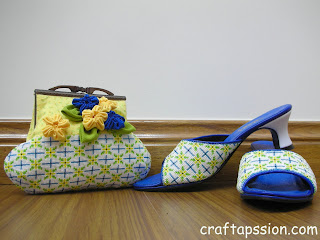 beaded shoes & purse