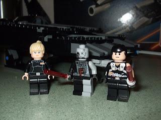 Battle Damaged Darth Vader Set 7672 Lego Star Wars Minifigures Rouge Shadow