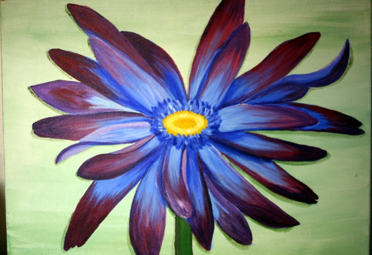 42 Simple And Easy Flower Paintings For Beginners - Buzz Hippy  Easy Big Flower Paintings