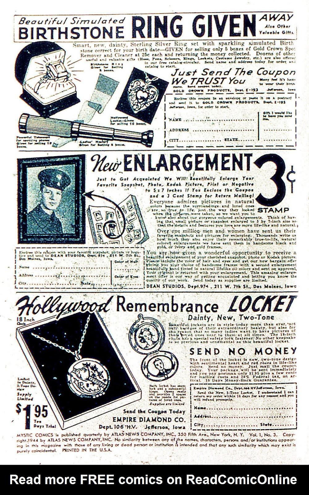 Read online Mystic Comics (1944) comic -  Issue #3 - 2