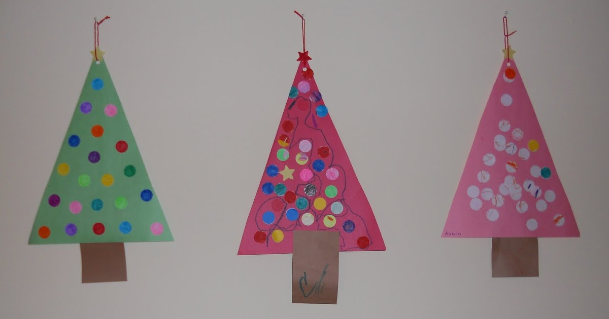 Splendid Blue Wren: Dot Tree: Simple Christmas Craft For Kids