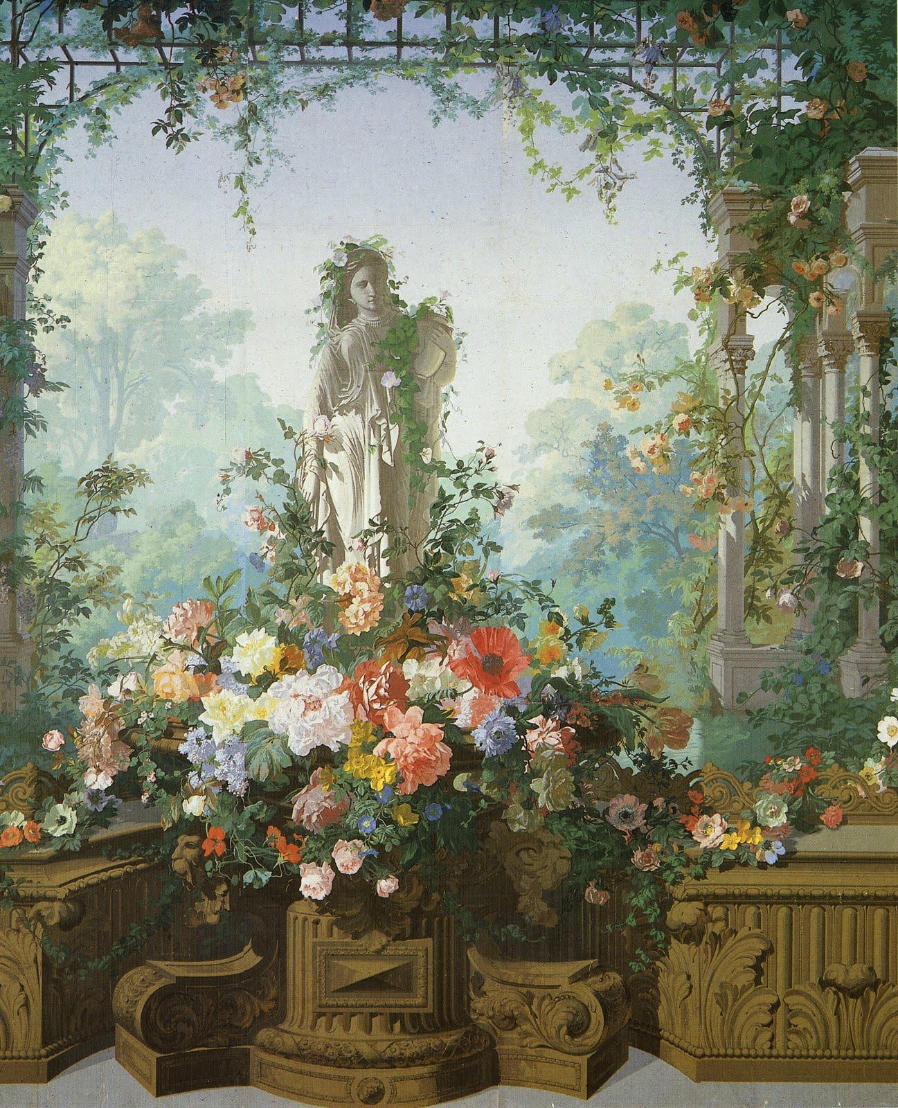 cityzenart: 19th Century French Scenic Wallpapers