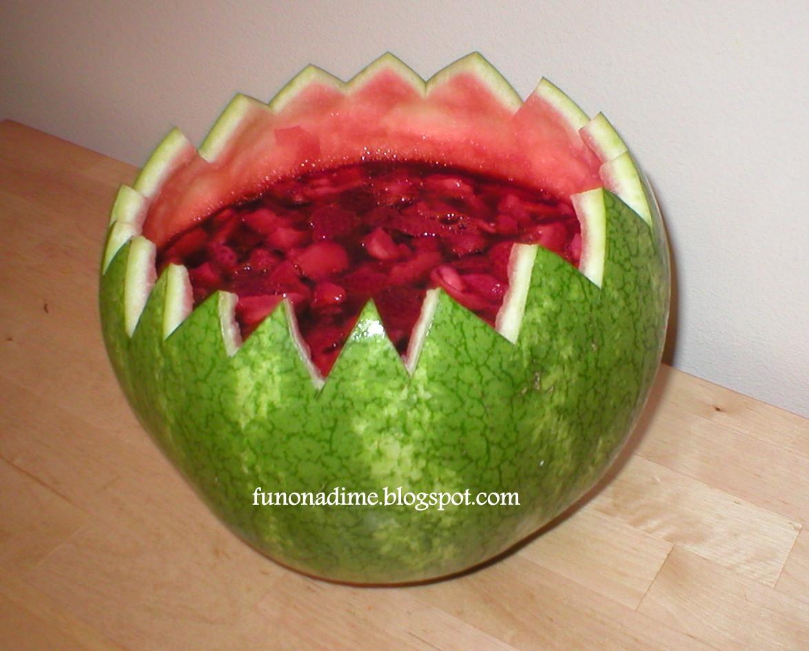 Watermelon Jelly Cake Recipe: Watermelon Jello Bowl
