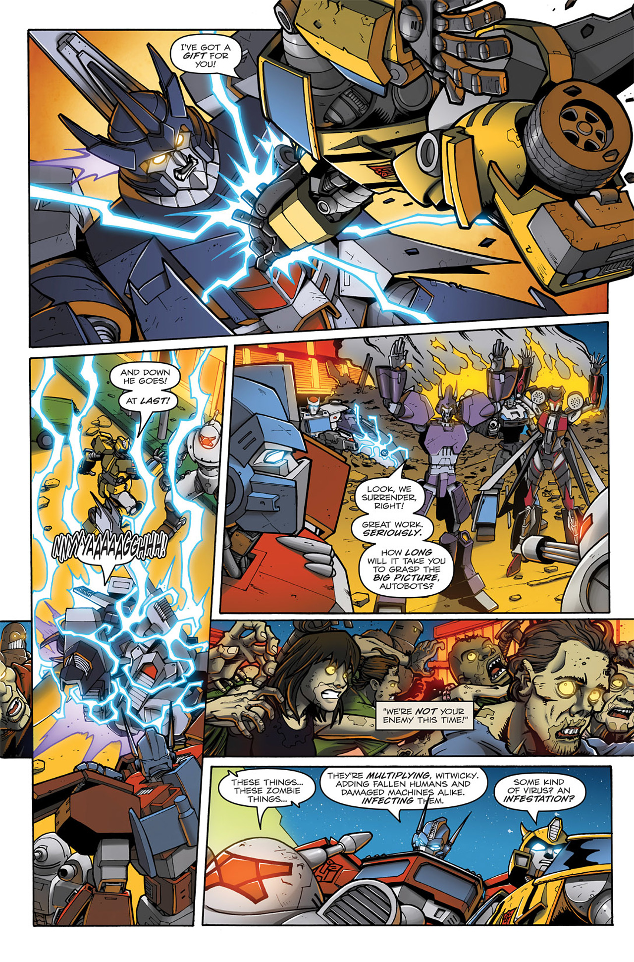 Read online Transformers: Infestation comic -  Issue #1 - 19